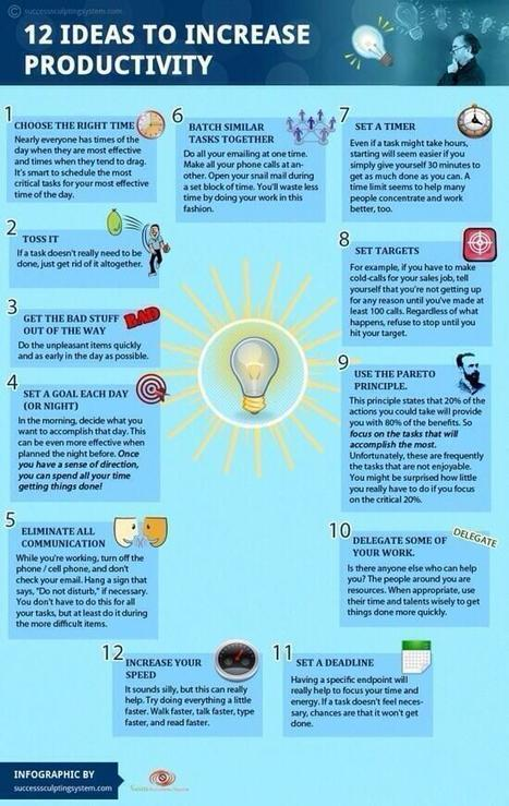 12 Handy Tips to Enhance Your Productivity ~ Educational Technology and Mobile Learning | Curating Information | Scoop.it