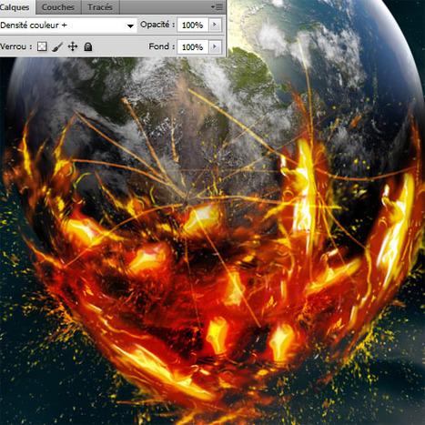 Tutoriel La planète terre avec Photoshop | Je, tu, il... nous ! | Scoop.it