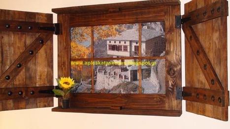 50755ff5d590 Απλές κατασκευές από παλέτες   Simple Pallet Construction  Καταπληκτικό  παράθυρο από παλέτα !