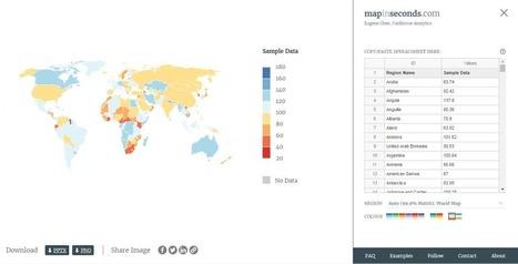 Présenter des données sur des cartes géographiques | Trucs et astuces du net | Scoop.it