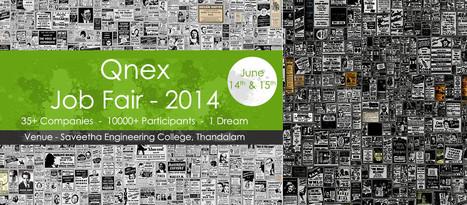 Mega Job Fair June 2014 in Chennai Tamilnadu for Multiple Vacancies on 14th June & 15th June 2014   Qnex Technologies LLP   Qnex technolgies   Scoop.it