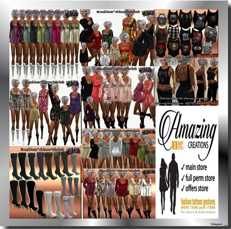 Female Outfits and Dresses May 2016 Group Gift by AmAzInNg CrEaTiOnS | Teleport Hub - Second Life Freebies | Finding SL Freebies | Scoop.it