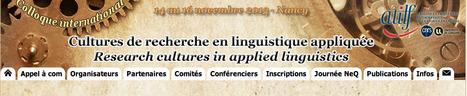 Colloque « Cultures de recherche en linguistique appliquée » | TELT | Scoop.it