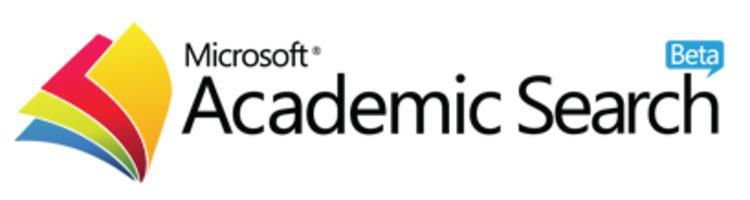 Logotipo do Microsoft Academic com link externo para exibir a página da Revista no indexador