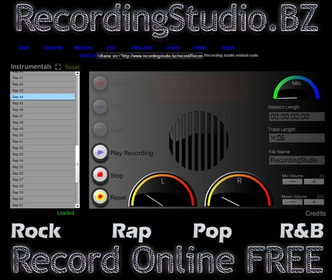 The Free Recording Studio Online :a must have tool for classsroom creativity! | WEB.02 tools for creative  EFL ESL learning & teaching | Scoop.it
