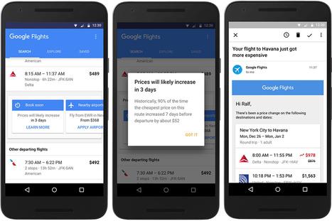 Google Flights Now Notifies Flyers When Airfares Will Expire | Etourisme et social média | Scoop.it