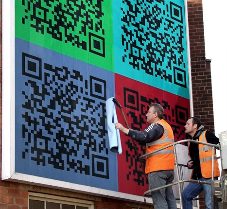 QR Code Art in the wild... | Mobile - Mobile Marketing | Scoop.it
