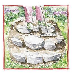 Rocaille et vieilles souches de bois c t jardin - Faire une rocaille ...