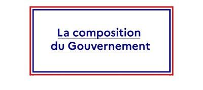 Découvrez la composition du Gouvernement
