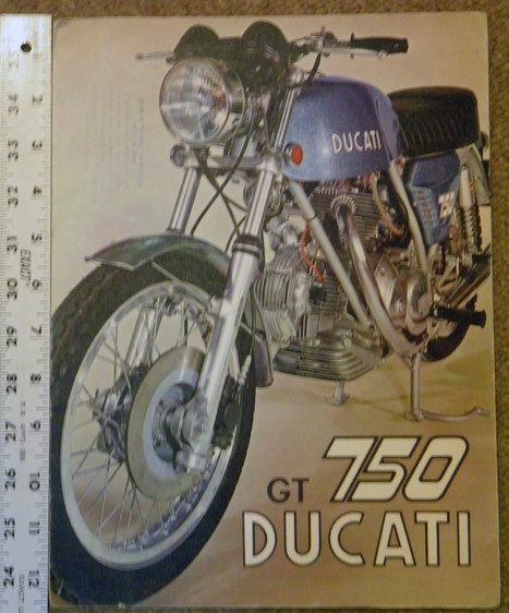Ducati 750 GT Factory Literature | eBay | Desmopro News | Scoop.it