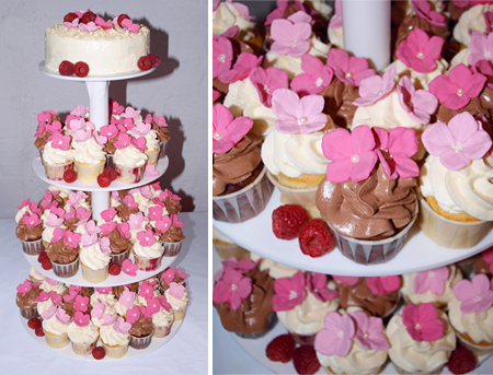 Cupcake Hochzeitstorte Mit Zuckerbluten