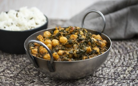 Palak Chole (Indian Spinach and Chickpea Curry) [Vegan, Gluten-Free]   My Vegan recipes   Scoop.it