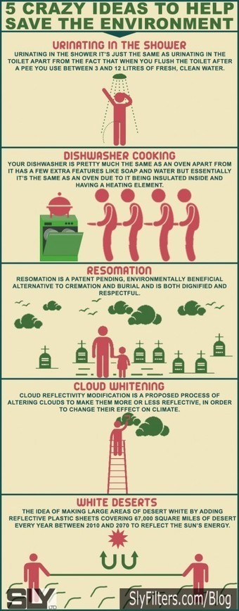 Infographic of 5 Crazy Ideas To Save The Environment | Environmental Education & Wildlife Conservation | Scoop.it