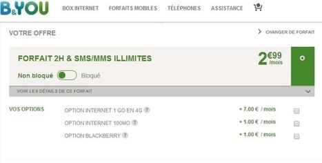 B&You: 2H, SMS/MMS illimités et 1 Go en 4G pour 9,99 € | netnavig | Scoop.it