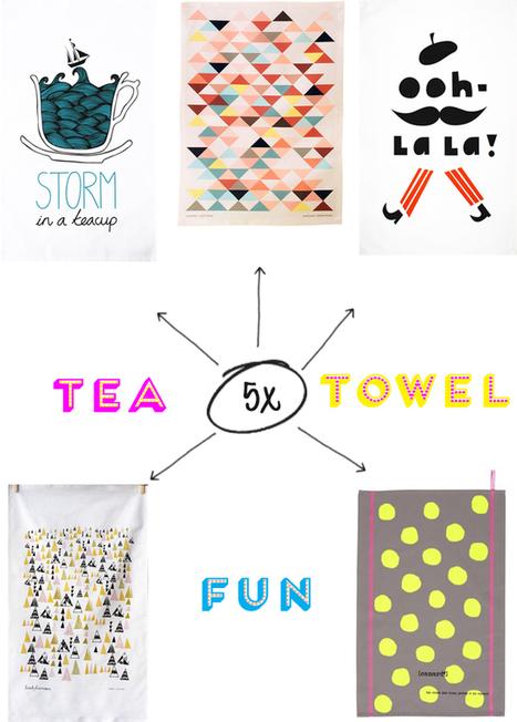 Happy Interior Blog: 5 Happy Inspirations: Fun Tea Towels | Interior Design & Decoration | Scoop.it
