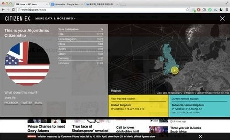 Browser extension shows where you really are on the web | Data Journalism - | Scoop.it