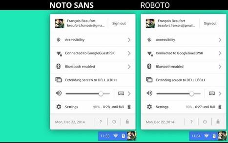 Le police «Roboto» disponible par défaut sur Chrome OS   Googland !!!   Google Chrome (FR)   Scoop.it