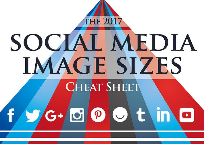 2017 Social Media Image Sizes Cheat Sheet | Médias sociaux : Conseils, Astuces et stratégies | Scoop.it