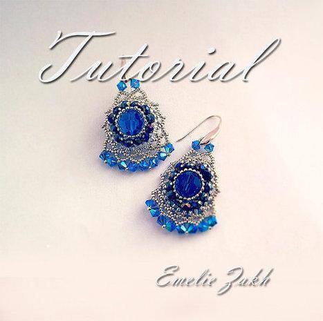 Beading tutorial. beaded earrings. ! Tutorial instructions  earrings,beaded jewelry tutorial.Crystal earrings tutorial.Beadwork tutorial. | Bazaar | Scoop.it