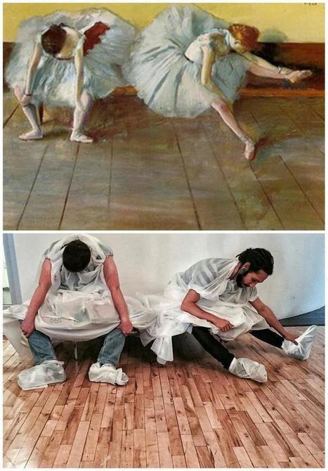 PHOTOS. Art: Ils passent le temps au bureau en reproduisant des ... - Le Huffington Post   Reg'Art Metis   Scoop.it