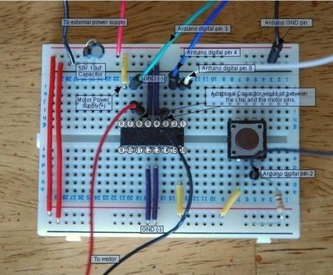 Arduino & Raspberry Notepad: Contrôle Moteur DC via L293D (H Bridge Driver, Circuit Intégré Pont H) | TPE 2014-2015 | Scoop.it