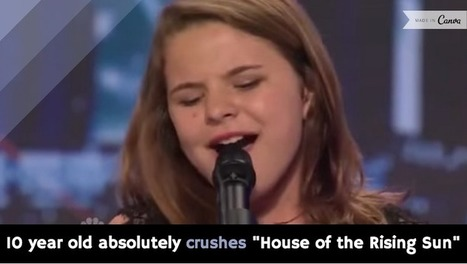 """10 year old absolutely crushes """"House of the Rising Sun"""" [video] - Holy Kaw! 