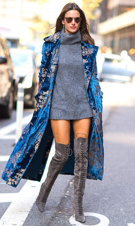 Alessandra Ambrosio on Le Silla Boots | Le Marche & Fashion | Scoop.it