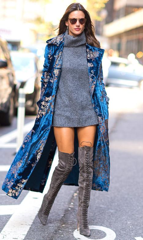 Alessandra Ambrosio on Le Silla Boots | Le Marche & Fashion | Scoop.it