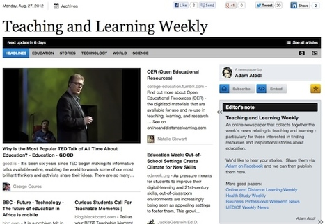 Aug 27 - Teaching and Learning Weekly | Studying Teaching and Learning | Scoop.it