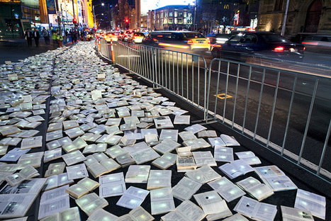 Massive River of 10,000 Discarded Books Rages Through Melbourne - My Modern Metropolis | Weird and wonderful | Scoop.it