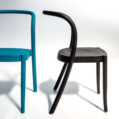 Martino Gamper repense la chaise en bois cintré en traçant d'une ligne les pieds arrière et le dossier | inoow design lab | Scoop.it