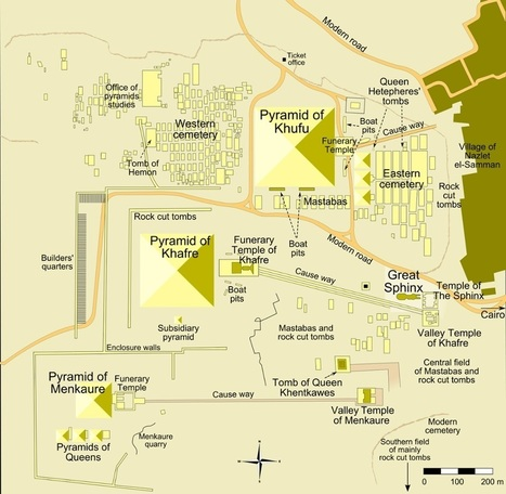 The Giza Pyramid Complex – Interactive Map | Christian Querou | Scoop.it
