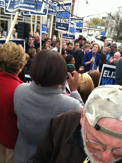 photo: @ElizabethforMA speaking to 100s of supporters in #Dorchester the day before Election Day! | Massachusetts Senate Race 2012 | Scoop.it