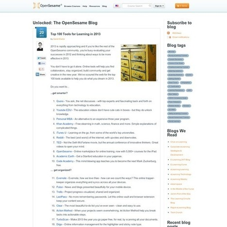 Top 100 Tools for Learning in 2013 | Student Technology Services | Scoop.it