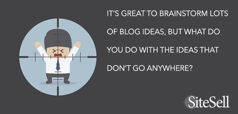 When To Kill Those Old Blog Post Ideas - The SiteSell Blog | Social Media News | Scoop.it