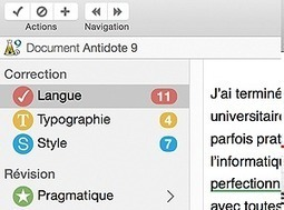 Antidote - Correcteur orthographique et grammatical | Courants technos | Scoop.it
