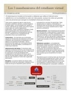 Mandamientos del estudiante virtual | Todo e-learning | Scoop.it