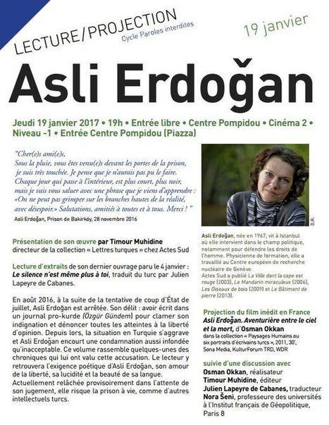 Asli Erdoğan : Lecture de textes et projection d'un film inédit d'Osman Okkan à la BPI - Le Blog documentaire | Web et Documentaire | Scoop.it