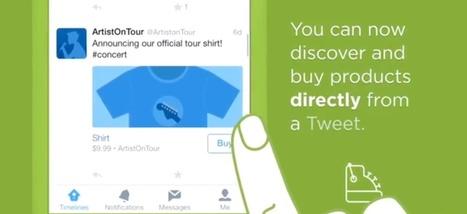 Twitter poursuit sa quête de revenus et lance un bouton «acheter» sur ses tweets | Social medias & Digital Marketing | Scoop.it