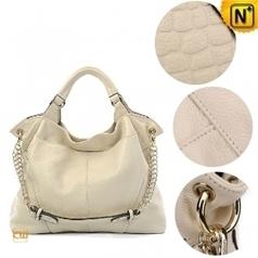 27bd383fde Women White Leather Hobo Handbags CW300027