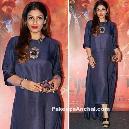 Raveena Tandon in Royal Blue Payal Khandwala Signature Dress, #ActressInBlueDresses, #BollywoodActress, #BollywoodDesignerDresses, #CelebrityDresses, #DesignerWear, #IndianFashionDesigners, #Raveen... | Indian Fashion Updates | Scoop.it