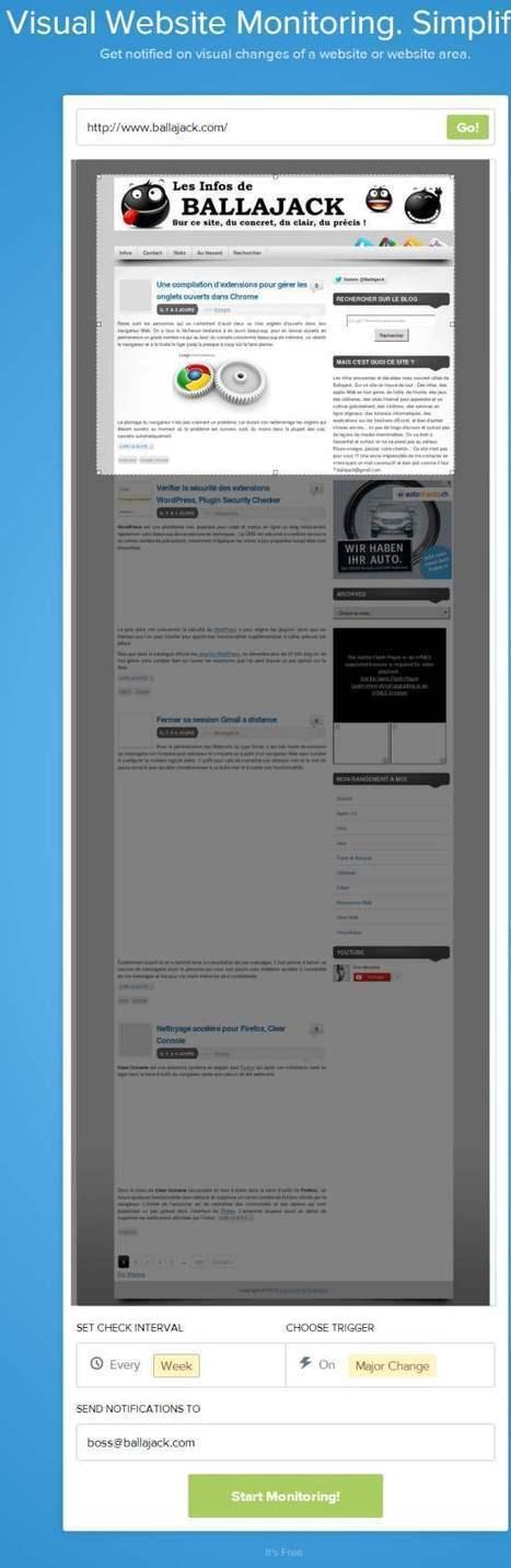 Suivi par mail des modifications sur une page Web, Visualping | Les Infos de Ballajack | François MAGNAN  Formateur Consultant | Scoop.it