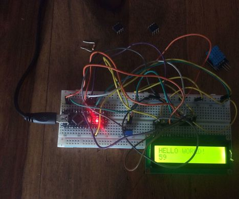 "How to make ""HELLO WORLD' on a LCD display(Arduino nano) 