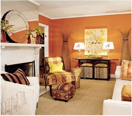 "Seasonal Decor - Fabulous Orange Living Spaces! | Alexanian Carpet & Flooring - ""The World at Your Feet"" www.alexanian.com 