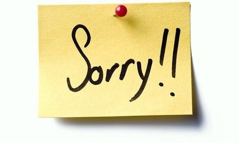 The delicate art of apologising (without making it worse) | Kickin' Kickers | Scoop.it