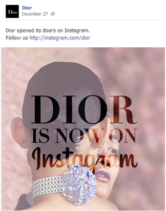 Dior takes long route to Instagram after a month of posts - Luxury Daily - Internet   Mobile Technology for Retailers   Scoop.it