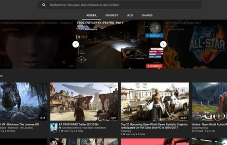 YouTube lance son application consacrée aux jeux vidéo | SeriousGame.be | Scoop.it
