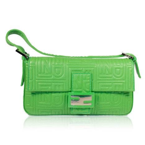 f4709d12401 Fendi handbag classic Baguette Neon Green - Nero Collection
