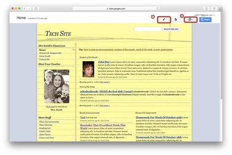 Creating a Class Website on Google Sites | Leren met ICT | Scoop.it