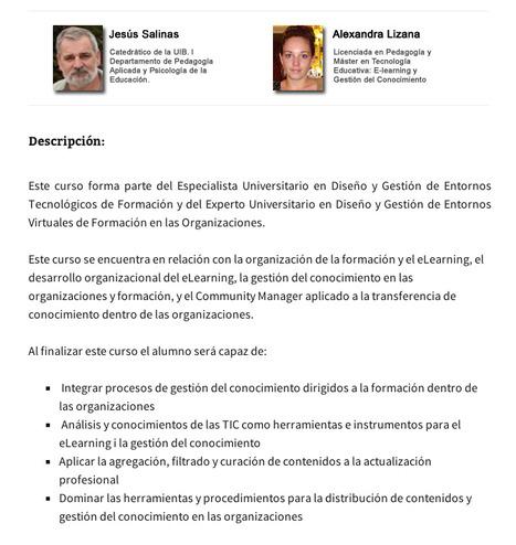 Curso de Actualización Universitaria en Organización y Gestión del Conocimiento | Gestión de conocimiento | Scoop.it